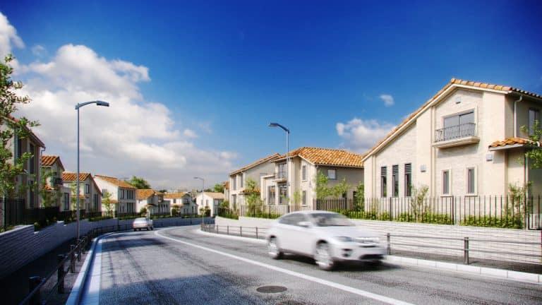 宅地住宅コンプレックス建築パース