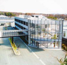 鳥瞰パース 工場オフィス棟デザイン